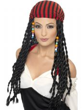 Pirate Braids Wig with Headscarf
